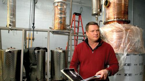 Scott Maitland, owner of Top of the Hill Restaurant & Brewery in Chapel Hill, and owner of TOPO Distillery.