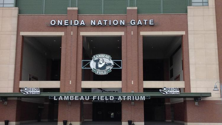 The Oneida Nation sponsors a gate at Lambeau Field in Green Bay, Wisconsin.