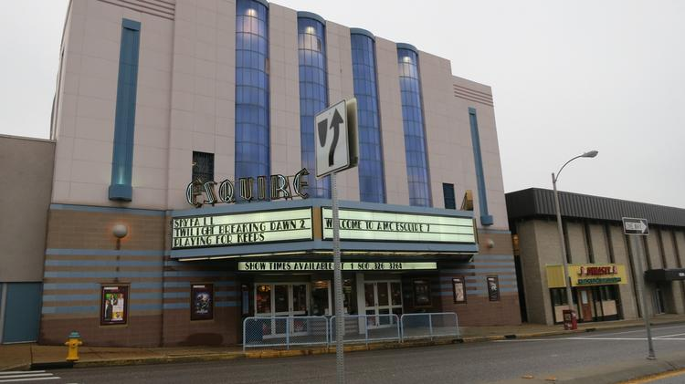 The Esquire Theatre in 2012. The 7-screen movie theatre is currently undergoing renovations.