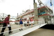 More passengers boarded the Belle of Cincinnati before the Great Steamboat Race.