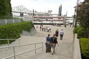 More passengers made their way to the Belle of Cincinnati before the race.