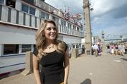 Miss America 2013, Mallory Hagan, was ready to board the Belle of Louisville for the Great Steamboat Race.