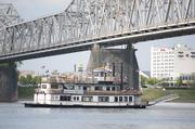 The Spirit of Jefferson passed under the Kennedy Bridge.