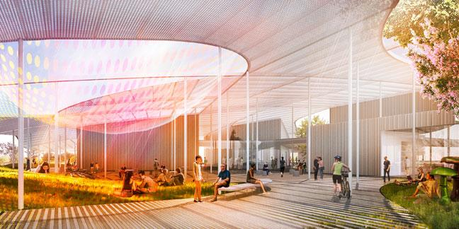 The Grand Canopy design, with 50,000 square feet of shade, was selected for the UC Davis Jan Shrem and Maria Manetti Shrem Museum of Art. The design was the concept of New York-based design firm SO-IL. The museum, with a total price tag of about $30 million, is slated to have 29,000 feet of interior space.