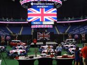 The Greensboro Coliseum got the Union Jack treatment for the announcement Tuesday that former Beatle Paul McCartney will play there on Oct. 30.