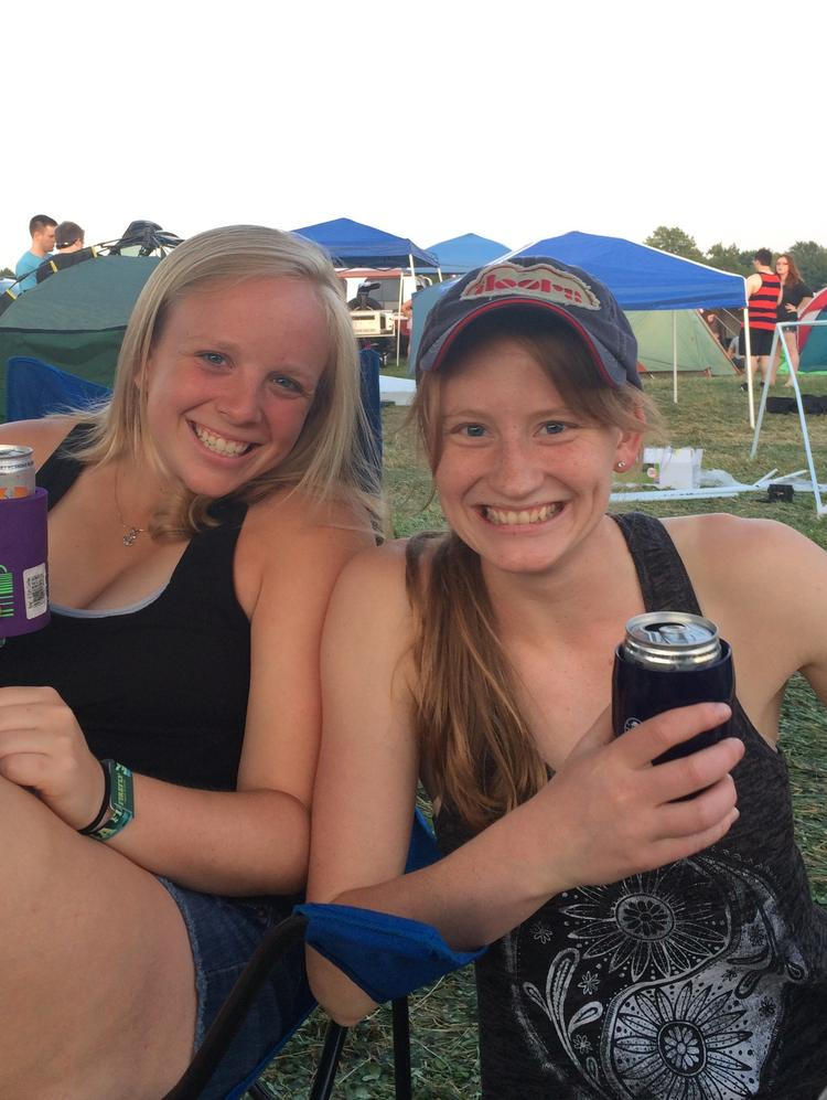 Dayton Business Journal Senior Reporter Olivia Barrow (right) interviewed young professionals at the Firefly Music Festival in Dover, Del., about what they think of Dayton, and got some funny and alarming answers.