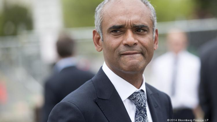 Aereo CEO Chet Kanojia leaves the U.S. Supreme Court following oral arguments by Aereo Inc. and American Broadcasting Companies Inc. on April 22. In June, the high court ruled in favor of the broadcasters, throwing Aereo's survival in doubt.