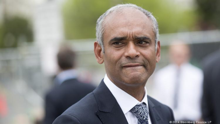 Chet Kanojia, chief executive officer of Aereo Inc., leaves the U.S. Supreme Court following oral arguments by Aereo Inc. and American Broadcasting Companies Inc. in Washington, D.C., on April 22.