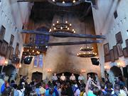 The impressive interior of The Leaky Cauldron made the perfect backdrop for Q&A panels.