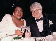 Chaz and Roger Ebert on their wedding day.