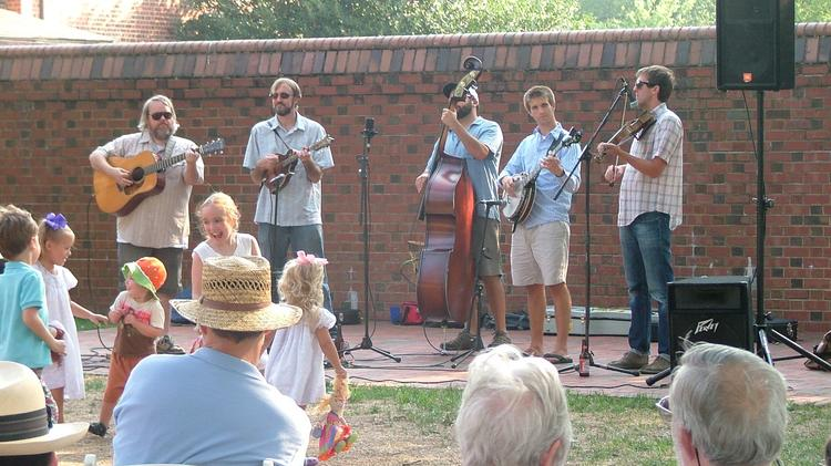 """Big Fat Gap performs as part of the """"Fridays on the Porch"""" series, now in its 12th season at the Carolina Inn."""