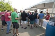 Lines formed at all the BeerFest booths for samples.