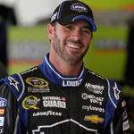 NASCAR's Jimmie Johnson makes pit stop at the White House