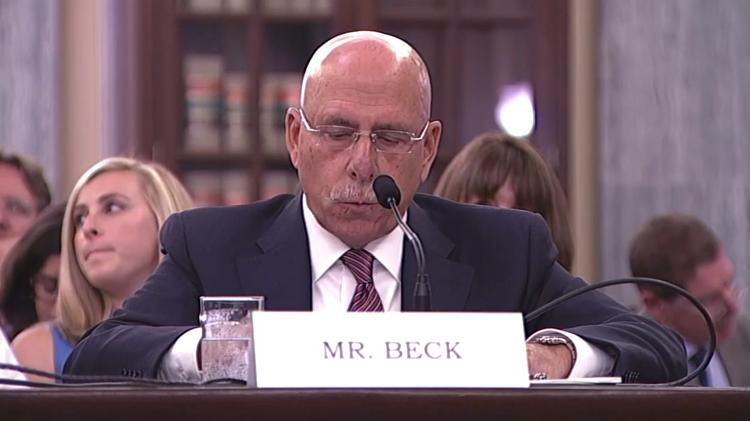 Gary Beck, Alaska Airlines vice president of flight operations, testified Wednesday in front of the U.S. Senate's Commerce, Science, and Transportation's Subcommittee on Aviation Operations, Safety, and Security.