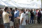 Attendees socialized and had fun at the BeerFest.