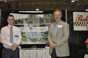 Jack McClelland (left) and Bill Gilmore of Pine Needles Lodge & Golf Club said they are trying to make more trips from Southern Pines to the Triangle with golf season again in full swing.