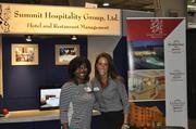 Jemeria Lawson (left) and Jennifer Rabanal said they enjoyed the exposure that Summit was able to receive at the expo.