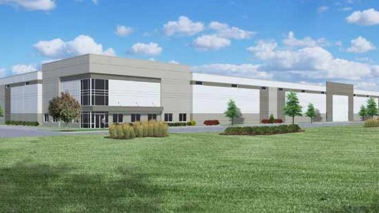 Construction started June 25 for Land & Lakes Development's 132,000-square-foot spec building in Mount Pleasant east of Interstate 94.