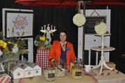 Liz Busch with Catering Works gave out samples of popcorn. She also won a Best Booth award.