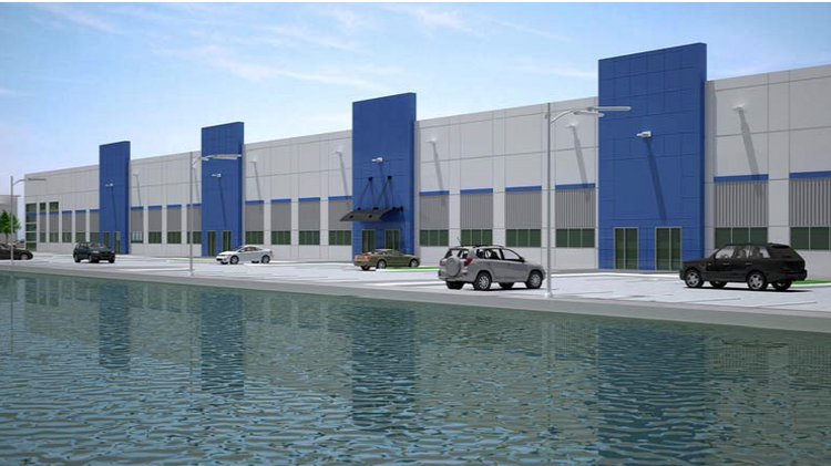 A rendering of the new warehouse Jax Green Industrial is planning on Jacksonville's Northside.