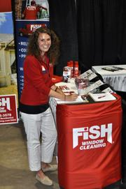 Brittany Coccitto with Fish Window Cleaning explained that she isn't the one who actually comes to clean your windows, but is glad to schedule for a cleaning at a later time.