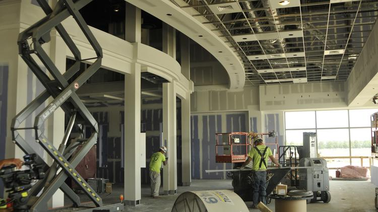 Work is continuing on the Hollywood Gaming at Dayton Raceway as it preps for a fall opening.