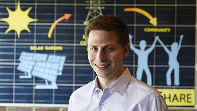 "David Amster-Olszewski is founder and president of SunShare, one of the big players in the new, rapidly growing ""community solar power"" market."