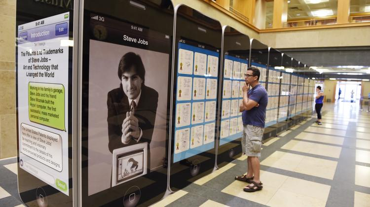 An exhibit showcasing hundreds of Apple Inc.'s and Steve Jobs' patents is on view at the Denver Public Library's Central Library through September.