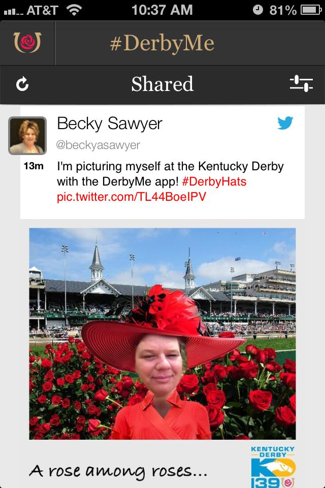 The DerbyMe app has a number of unique features, including one that allows users to place their images in Derby settings.