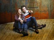 """""""The Last Ship"""" actors Rachel Tucker and Aaron Lazar are part of a complicated love triangle that is one of the Sting musical's story threads."""