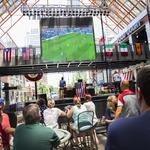 World Cup fans take lunch break to watch game at Fourth Street