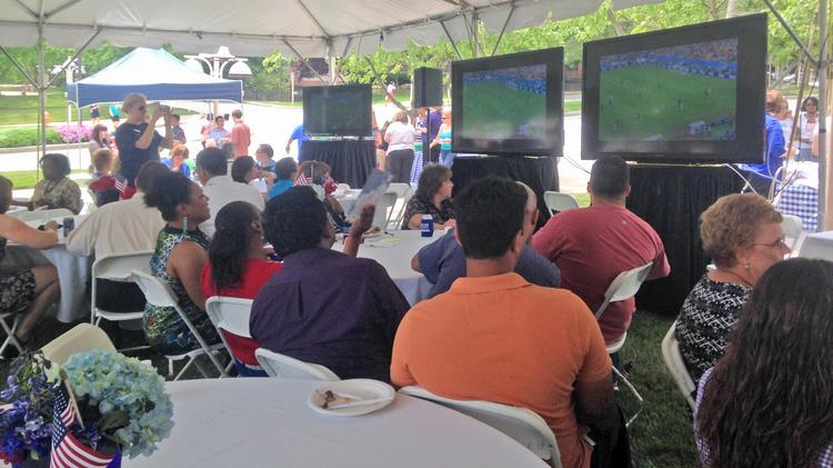 BECO Towers in Owings Mills hosted a World Cup-themed barbecue on Thursday for about 600 employees.
