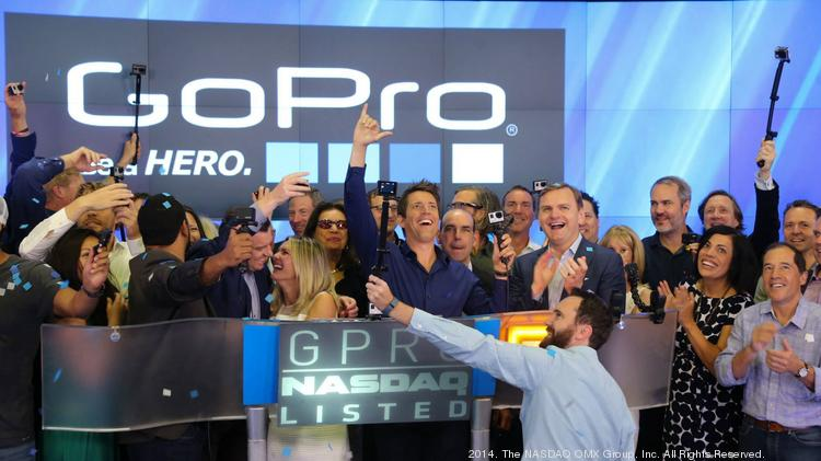GoPro, $3.1 billion market cap: CEO Nick Woodman led a GoPro celebration at the opening bell of the Nasdaq exchange on June 26 after the San Mateo company raised $427 million in its IPO. The stock rose 30.6 percent in its debut and closed July 18 about 74 percent above its IPO price. GoPro had raised about $288 million in venture and private equity funding. The company's biggest shareholders pre-IPO were the Woodman family (about 49 percent), Riverwood Capital (about 16 percent), Foxconn (about 10 percent), Nick's dad Dean Woodman, who was a founding partner at investment bank Robertson Stephens (6 percent), Sageview Capital (6 percent) and Neil Dana, Nick's college roommate who was also the company's first employee (5.5 percent).