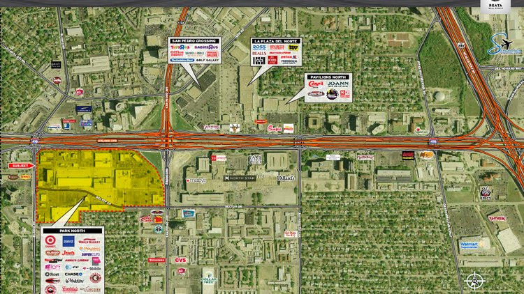 The Center of Attention — Park North (shaded yellow) is adding Norris Conference Centers to its line up.