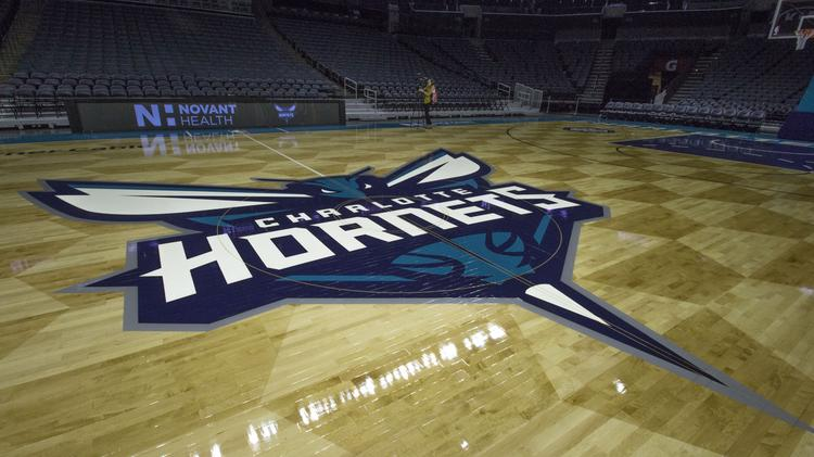 The new Charlotte Hornets home court debuted last week.
