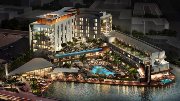 The planned look for Aloft South Beach once it's complete.