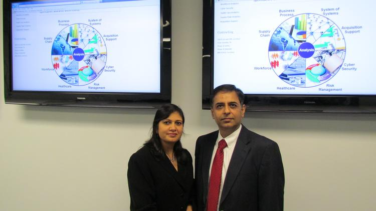 Anju and Praveen Chawla are co-owners of Centerville-based Edaptive Computing Inc.