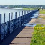 St. Paul Downtown Airport puts up floodwall to hold back Mississippi River (Photos)