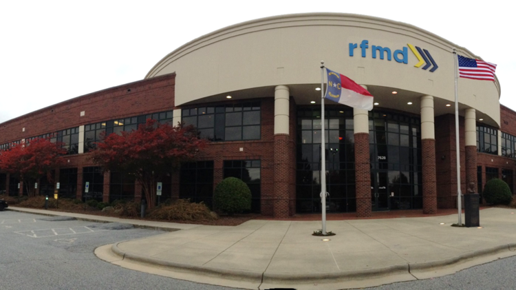 RF Micro Devices is headquartered in Greensboro.