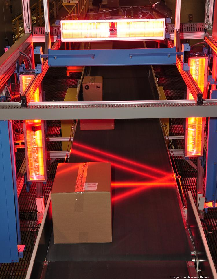 Packages are laser scanned at FedEx Ground's Rensselaer facility.