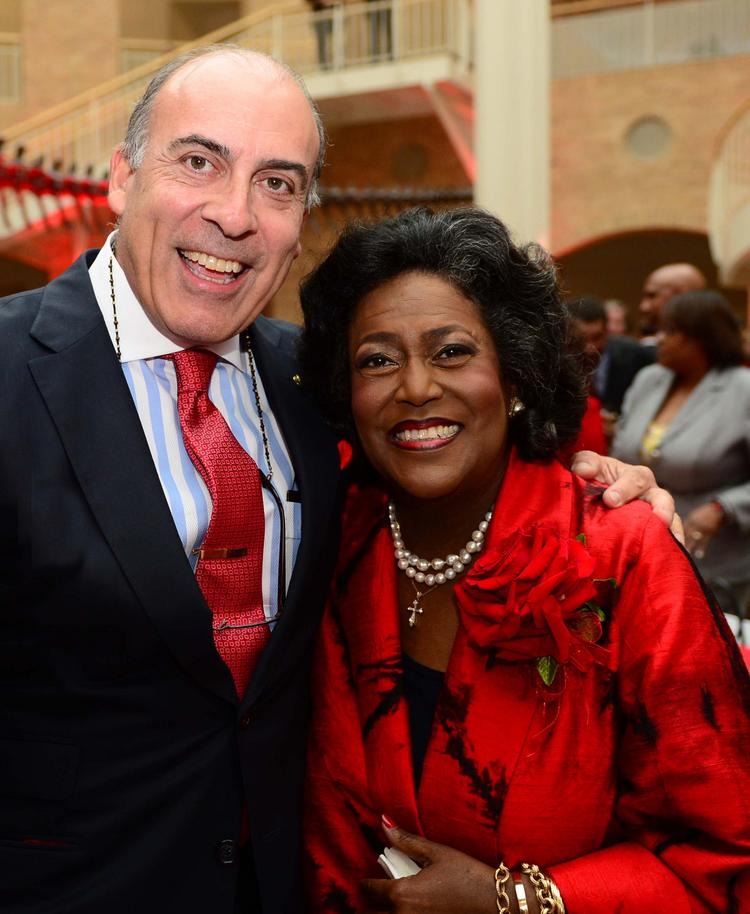 Coca-Cola Chairman and CEO Muhtar Kent with  Ingrid Saunders Jones.