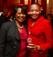 Bernice King, daughter of Civil Rights icon Martin Luther King Jr., and Lisa Borders, new chair of The Coca-Cola Foundation.