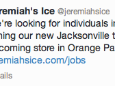 The tweet from Jeremiah's announcing it is hiring in Orange Park.