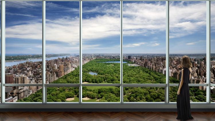 """Rising to over one thousand feet above midtown Manhattan, One57 claims to have the """"longest south to north views of Central Park ever offered in private residences."""""""