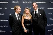 From left, Justin Smith of Atlantic Media, Miss America Mallory Hagan and Chris Frates of National Journal.