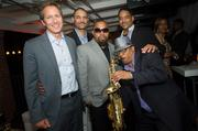 The Atlantic's Jay Lauf with jazz musician and saxophonist Ski Johnson and gang.
