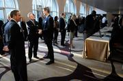 """The frenzied pace of building the state's cornerstone of health care from scratch was bared to all who attended the Business Journal's """"The Future of Health Care"""" event Thursday morning at the Hyatt Regency Sacramento. This is the scene before the event."""