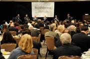 """The frenzied pace of building the state's cornerstone of health care from scratch was bared to all who attended the Business Journal's """"The Future of Health Care"""" event Thursday morning at the Hyatt Regency Sacramento. This is an overview of the panel, which featured, from left, Jonathan Porteus of WellSpace Health, Paul Phinney of California Medical Association, Garry Maisel of Western Health Advantage, Duane Dauner of California Hospital Association and Jonathan Breslau of Radiological Associates of Sacramento. Editor Jack Robinson, far right, was moderator."""