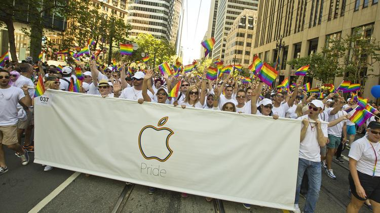 Americans are more likely to trust technology companies like Apple than health insurers or banks, but most think corporations should stay out of issues like gay marriage.