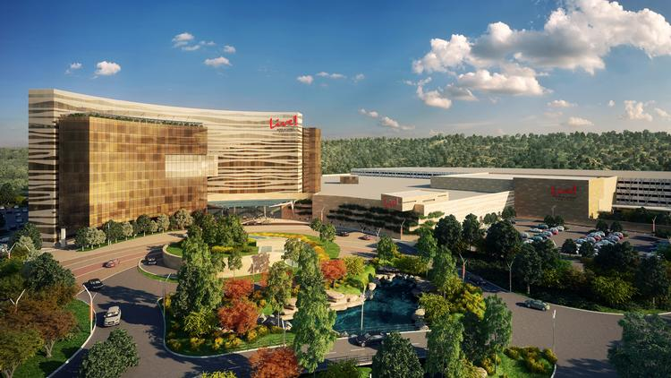 A rendering of the $750 million Live Hotel and Casino New York.